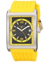 Men's Limousine Analog Display Swiss Quartz Yellow Watch