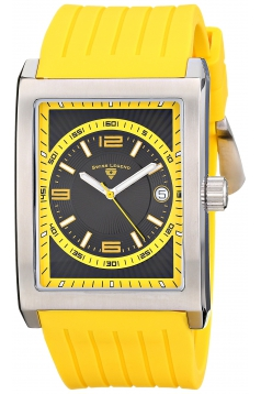 Swiss Legend Men's 40012-01-YA Limousine Analog Display Swiss Quartz Yellow Watch