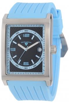 Swiss Legend Men's 40012-01-BBLA Limousine Black Textured Dial Light Blue Silicone Watch