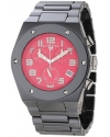 Men's Throttle Chronograph Red Dial Black Ceramic Watch