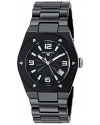 Women's Throttle Analog Display Swiss Quartz Black Watch