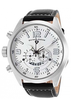 Men's Highlander Analog Display Swiss Quartz Black Watch