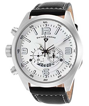 Swiss Legend Men's 10020-02 Highlander Analog Display Swiss Quartz Black Watch