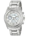 Women's Ultimate Swiss Quartz Multifunction Crystal Mother-of-Pearl Silver-tone Bracelet Watch