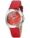Women's Lady Diamond Analog Display Swiss Quartz Red Watch