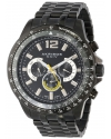 Men's Grandiose Swiss Multifunction Black Dial Black Stainless Steel Bracelet Watch