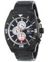 Men's Grandiose Swiss Multifunction Black Carbon Fiber Dial Black Stainless Steel Bracelet Watch
