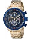 Men's Aviator Analog Display Japanese Quartz Gold Watch