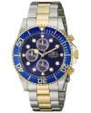 "Men's ""Pro Diver"" 18k Gold Ion-Plating and Stainless Steel Watch"