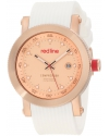Men's Compressor Pink Dial White Silicone Watch