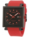 red line Men's RL-50035-BB-01-RA1-RD Compressor 2 Black Dial Red Silicone Watch