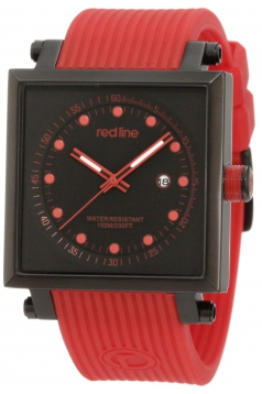 Men's Compressor 2 Black Dial Red Silicone Watch