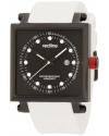 Men's Compressor 2 Black Dial White Silicone Watch