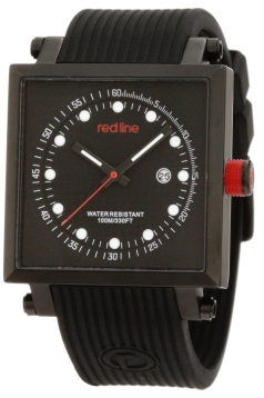 red line Men's RL-50035-BB-01 Compressor 2 Black Dial Silicone Watch
