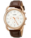 Women's Maya Chronograph Silver Dial Brown Leather Watch