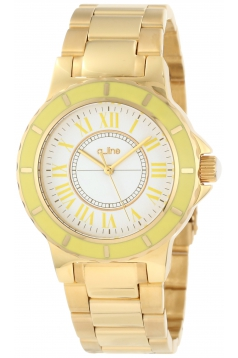 Women's Marina White Dial Gold Ion-Plated Stainless Steel Watch