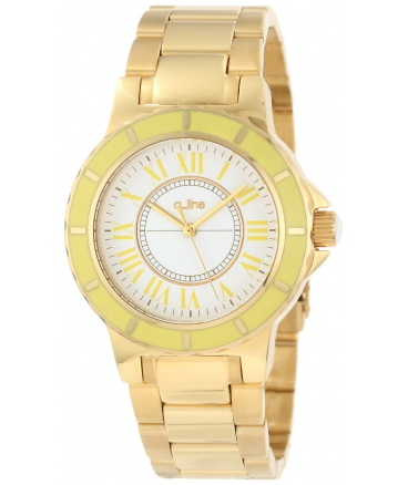 Women's AL-80009-YG-02YL Marina White Dial Gold Ion-Plated Stainless Steel Watch