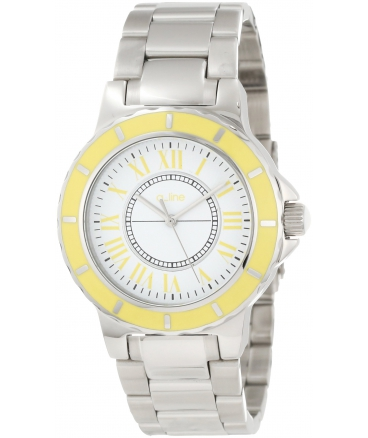 Women's AL-80009-02YL Marina White Dial Stainless Steel Watch