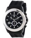 Men's Monte Carlo Chronograph Black Textured Dial Black Silicone Watch