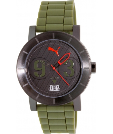 Men's Motorsport Deep Green Polyurethane Black Dial