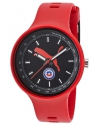 Men's Tachymetre Red Silicone Strap Watch