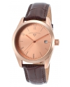 Men's Peninsula Analog Display Swiss Quartz Brown Watch
