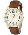 Mens  Originals Gold-Tone Watch with Brown Leather Band