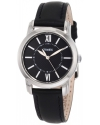 Women's Style Classic Black Leather Strap Watch