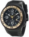 Men's Neptune Black Dial Black Silicone Watch