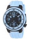 Women's Neptune Black Dial Light Blue Silicone Watch