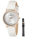 Women's Symphony Elite Swiss Quartz Diamond White Watch with Interchangeable Strap