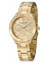 Women's Symphony Regent Gala Quartz Day and Date Gold Tone Bracelet Watch