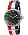 """Mens  Leisure Collection """"Gen X Liberty"""" Red, White, and Blue Canvas Strap Watch"""