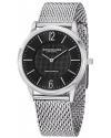 Men's Classic Ascot Somerset Elite Swiss Quartz Ultra Slim Black Dial Mesh Bracelet Watch