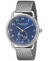 Men's Classique Swiss Quartz Blue Dial Stainless Steel Mesh Watch