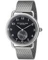 Men's Classique Swiss Quartz Black Dial Stainless Steel Mesh Watch