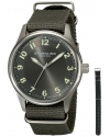 Men's Aviator Stainless Steel Watch with Interchangeable Canvas Bands
