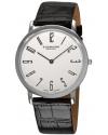Men's Classic Ascot Belmont Swiss Quartz Slim White Dial Watch
