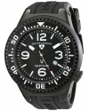 Men's Neptune Collection Black Textured Rubber Watch