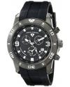 Men's Everest Analog Display Swiss Quartz Black Watch
