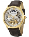 Men's Classic Winchester Tempest II Automatic Skeleton Dual Time Zone Gold Tone Watch