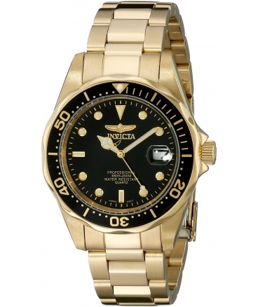 Men's Pro Diver Collection 23k Gold Plated Watch
