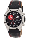 Women's Aquadiver Nemo Swiss Quartz Chronograph Swarovski crystal Date Black Leather strap Watch