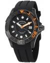 Men's Aquadiver Manta Ray Swiss Quartz Professional Diver Black Watch