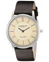 Men's Classic Ascot Newberry Swiss Quartz Super Slim Brown Leather Strap Watch