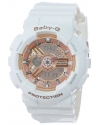 Women's Baby-G Pink Analog-Digital Display and White Resin Strap Watch