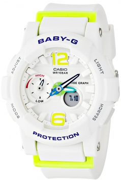 G-Shock Womens BGA180 Glide with Tide Graph Baby-G Series Designer Watch