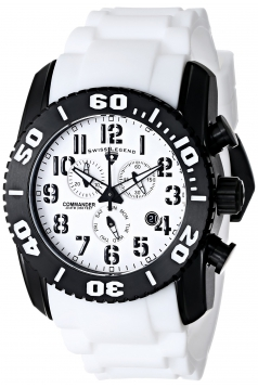 Men's Commander Titanium Analog Display Swiss Quartz White Watch