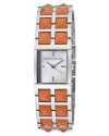 Women's KJLANE-1505 1500 Series Stainless Steel Watch with Coral-Color Resin Bracelet