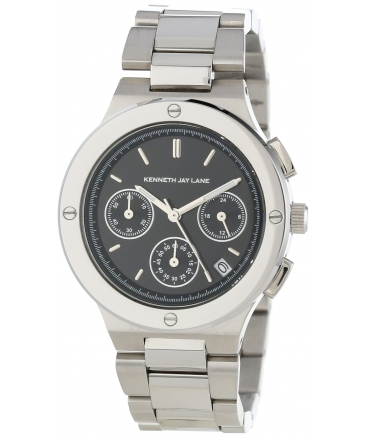 Women's Chronograph Black Dial Stainless Steel Watch